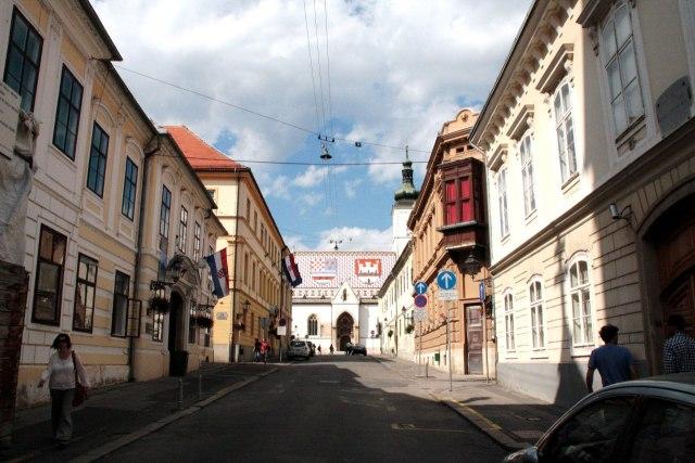 De middeleeuwse binnenstad van Zagreb