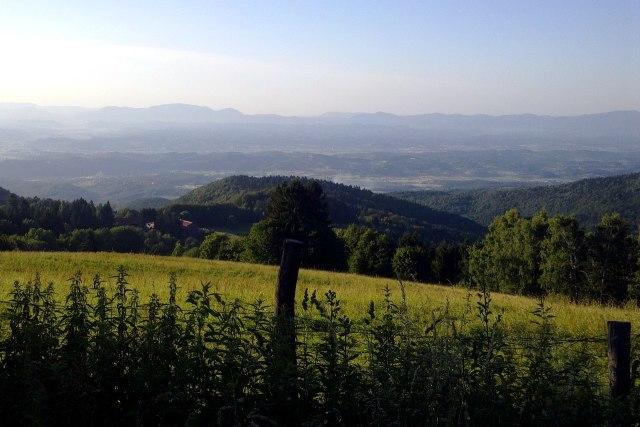 Zacht glooiende heuvels in Zagorje