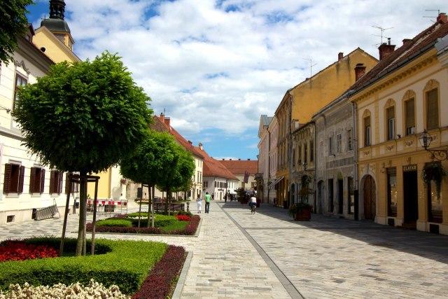 Het aangename stadje Varaždin in het noorden