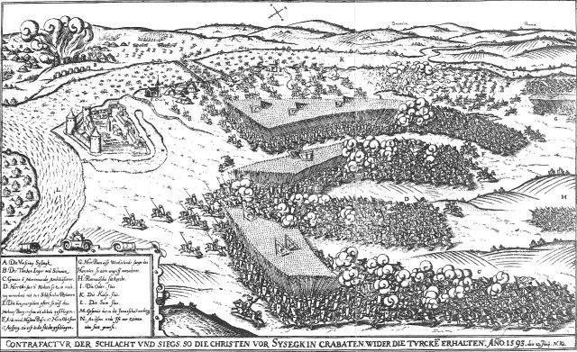 Een van de vele veldslagen tegen de Turken