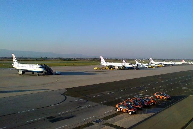 Op de kleine maar overzichtelijke luchthaven van Zagreb