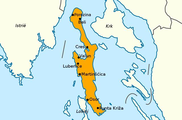 Kaart van Cres