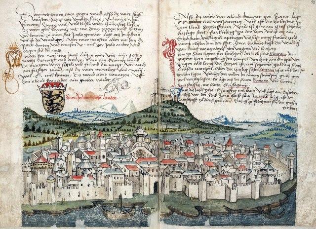 Een middeleeuwse beschrijving van de stad Zadar door Konrad Grünenberg in 1428