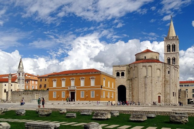 Historische gebouwen in de stad Zadar