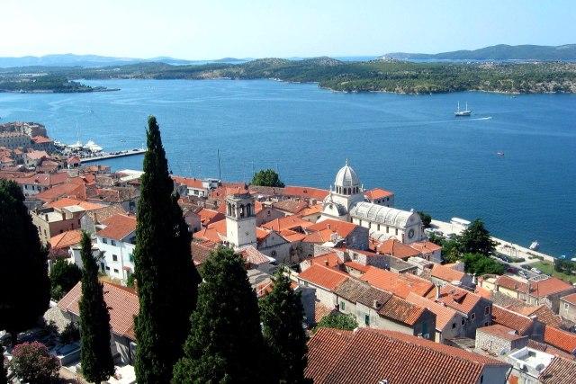 De middeleeuwse binnenstad van Šibenik