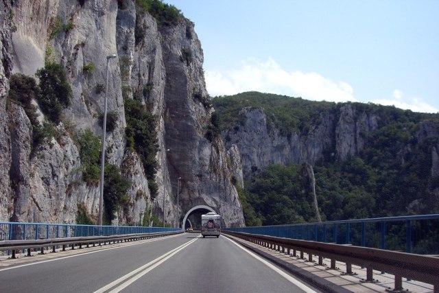 Met de auto onderweg in Istrië