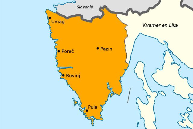 Kaart van Istrië