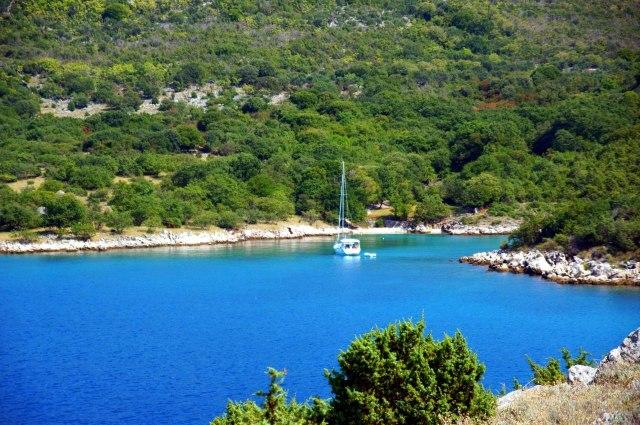 Zeilen bij het eiland Krk