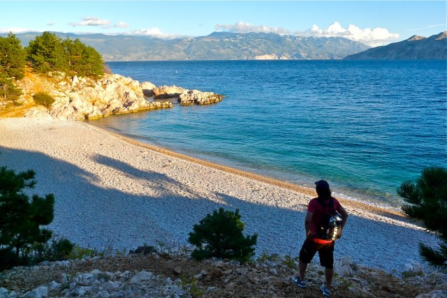 Een van de stranden van Krk