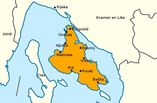 Kaart van Krk