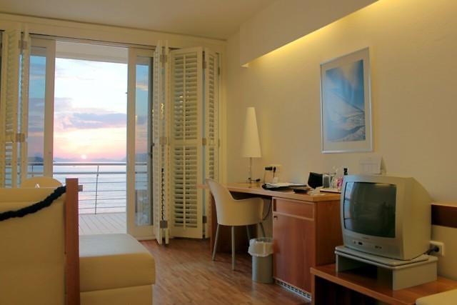 Een typische hotelkamer in Kroatië