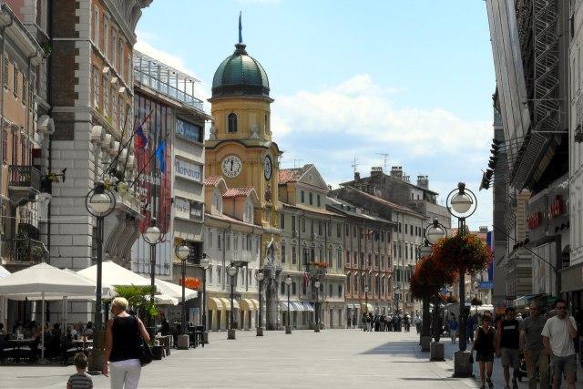 Het centrum van Rijeka