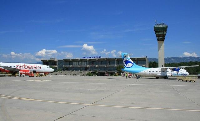 Het vliegveld van Rijeka