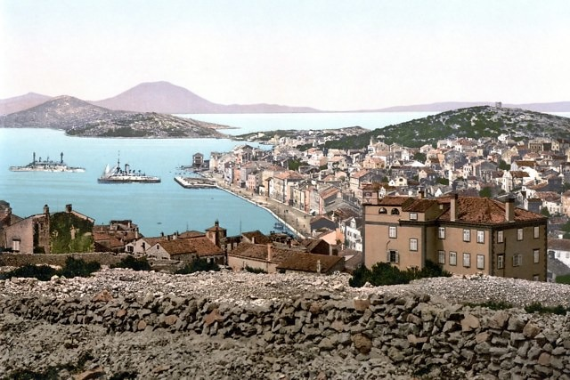 Lussin Picolo, zoals de Italiaanse naam van Mali Lošinj rond 1900 luidde