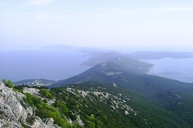 Uitzicht vanaf de Osoršćica