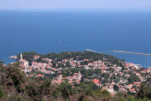 Het oudere stadje Veli Lošinj