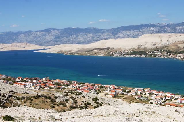 Het Kroatische eiland Pag