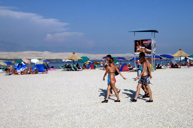 Het strand van Zrće