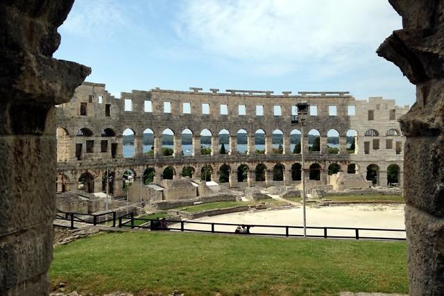 Het Romeinse amfitheater van Pula