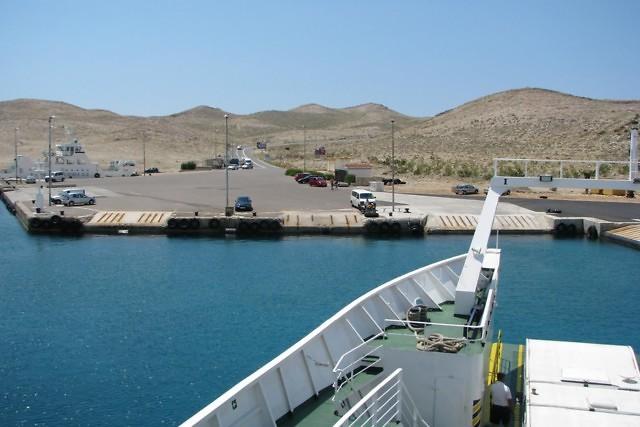 Veerboot tussen Rab en het vasteland