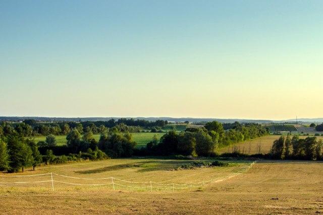 Een typisch landschap in Slavonië