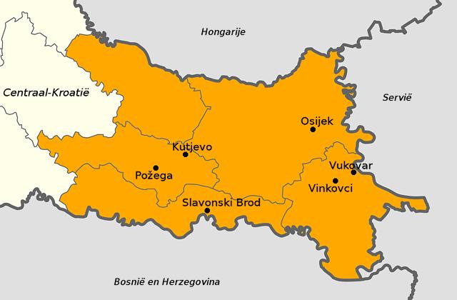 Kaart van Slavonië