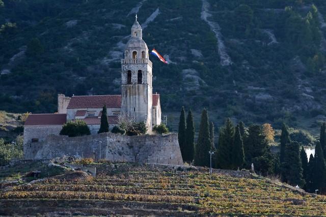 Het klooster vlakbij Komiža