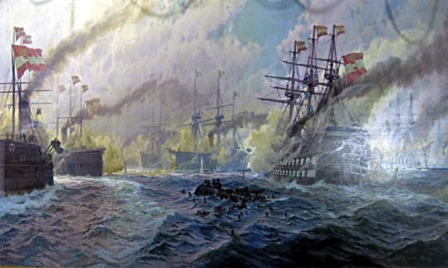 Een zeeslag bij Vis