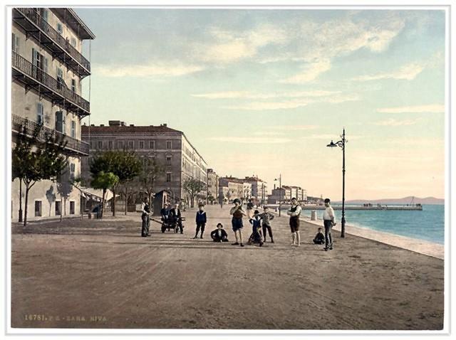 De promenade van Zadar in de Oostenrijkse tijd