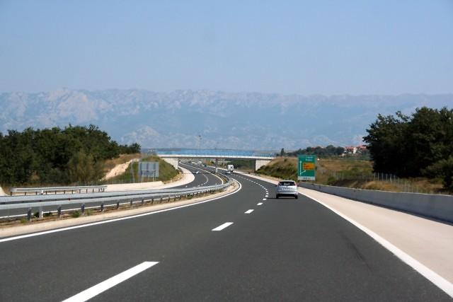 De Kroatische A1 bij Zadar